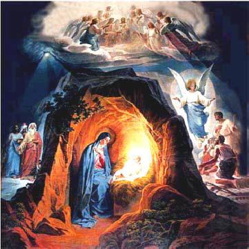 Рождество Христово. Заалтарная роспись Храма Христа